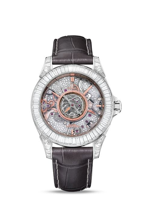Đồng hồ Platinum on leather strap - 513.98.21.56.001