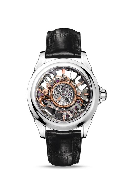 Đồng hồ Platinum on leather strap- 513.93.39.21.99.001