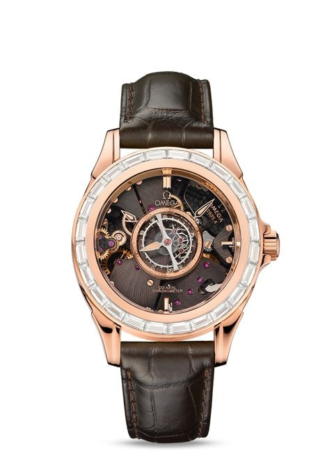 Đồng hồ Red gold on leather strap - 513.58.39.21.64.001