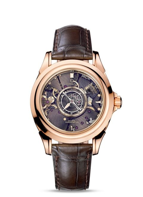 Đồng hồ Red gold on leather strap - 513.53.39.21.99.001